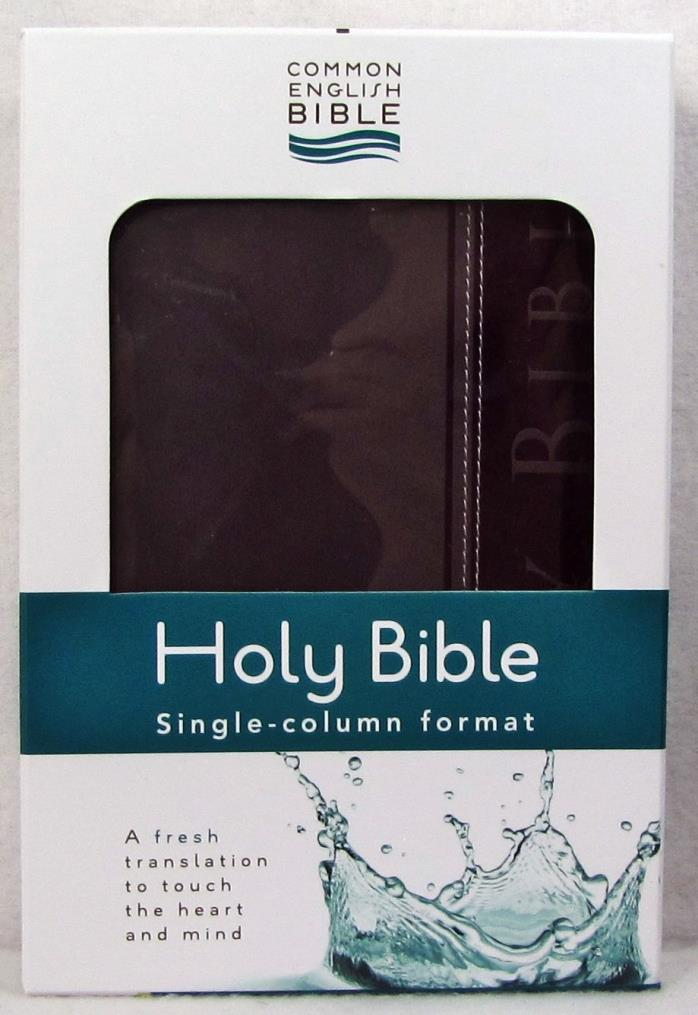 NEW Holy Bible Single Column Common English Grey DecoTone Vinyl Maps National