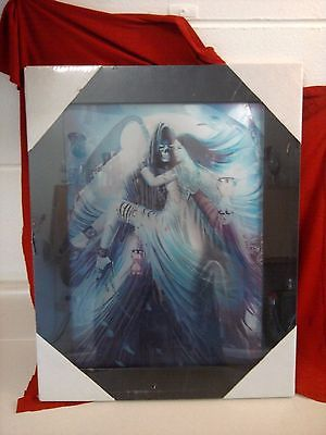 3D LENTICULAR PICTURE...GOTHIC ART..NEW..SEALED IN PLASTIC..FRAMED..19
