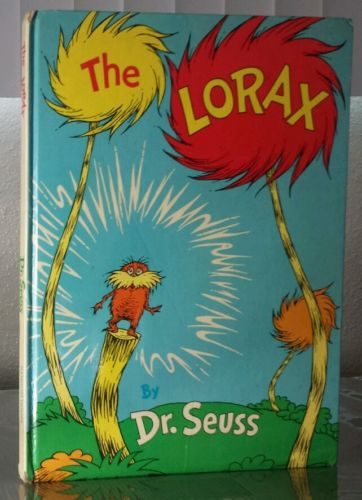 Dr Seuss SIGNED the lorax 1971 later print