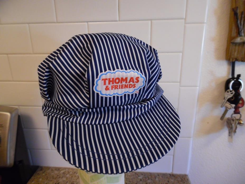THOMAS & FRIENDS blue striped child's engineer cap, by Fisher Price