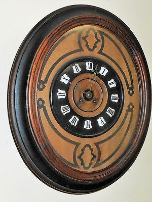 Antique Marti 19th Century Medaille De Bronze French Gallery Wall Clock Working