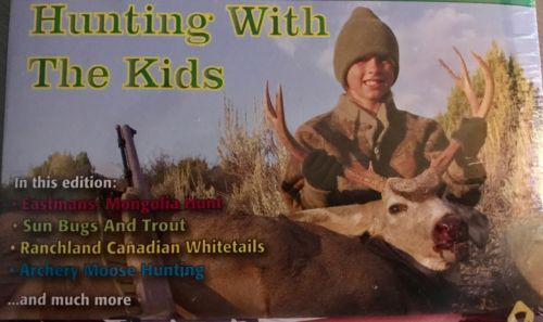 New Sealed Hunting & Fishing DVD Hunting with Kids, Mongolia Moose Deer 4-6 Hrs