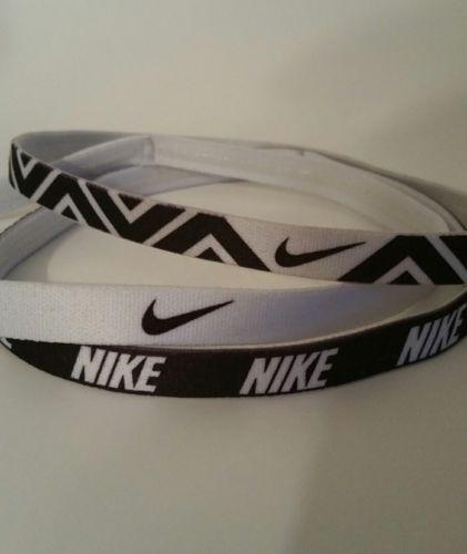 Nike Headbands, Set of 3, Black and White