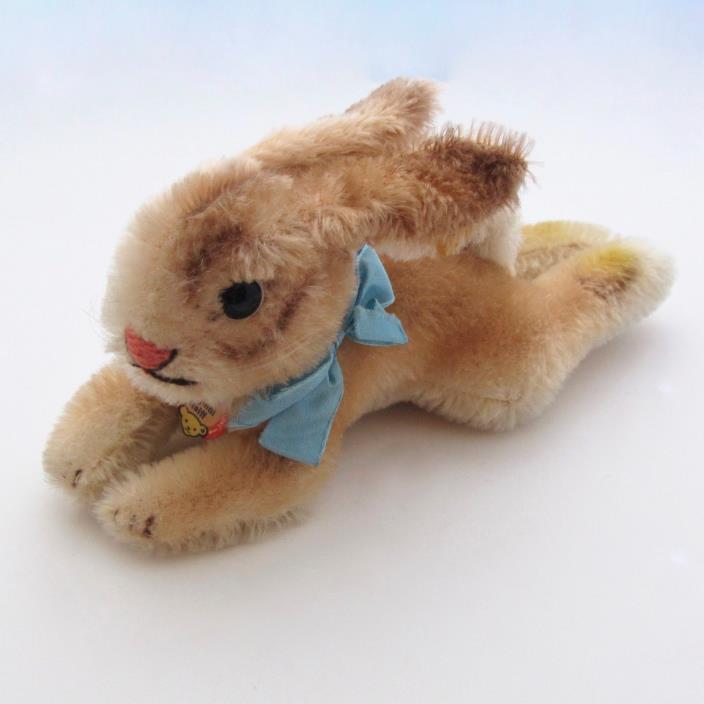 Vintage Steiff Rabbit Lying 2960/12 Pendant Tag Button Tag
