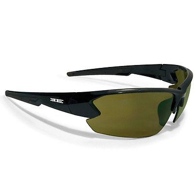 Epoch Eyewear Sunglasses, Epoch 4, Black Frame w/Green Lens, New