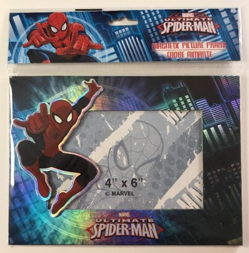 MARVEL SPIDER-MAN MAGNETIC PICTURE FRAME  4 X 6 NEW In Package
