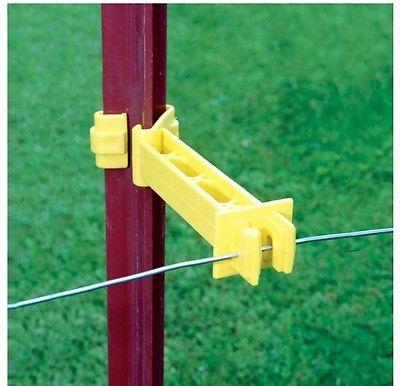 Fi-Shock ITRXY-FS Backside T-Post Snap-On Reversed Insulator, Yellow