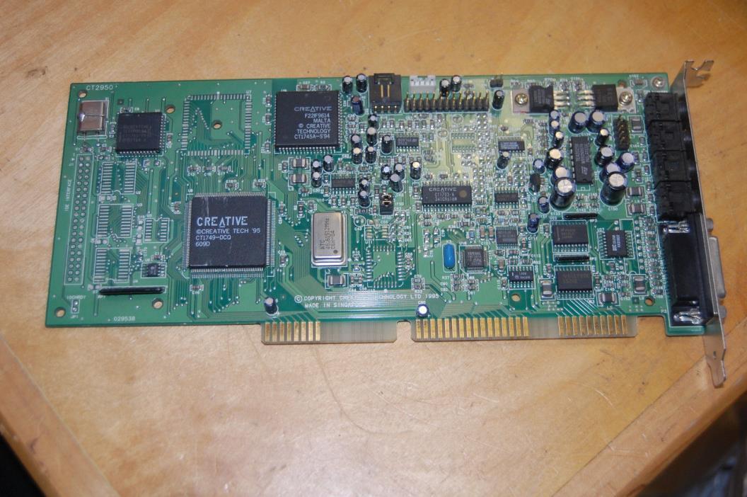 Vintage Creative Labs Sound Blaster SoundBlaster 16 Pro 16-Bit ISA Sound Card!