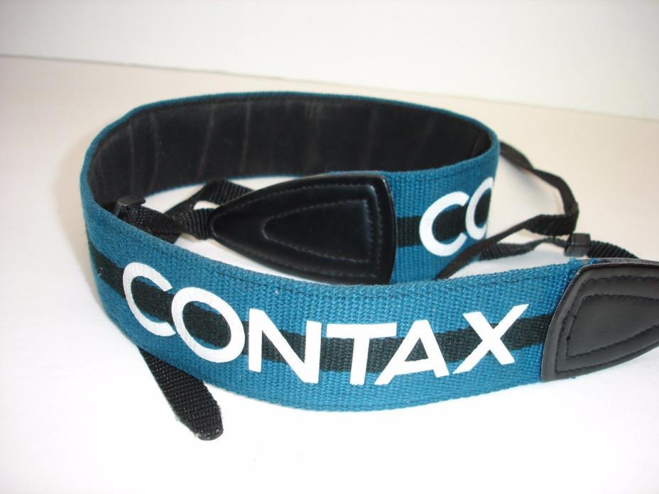 CONTAX 645 Camera  STRAP  Black / Blue / White  #01520