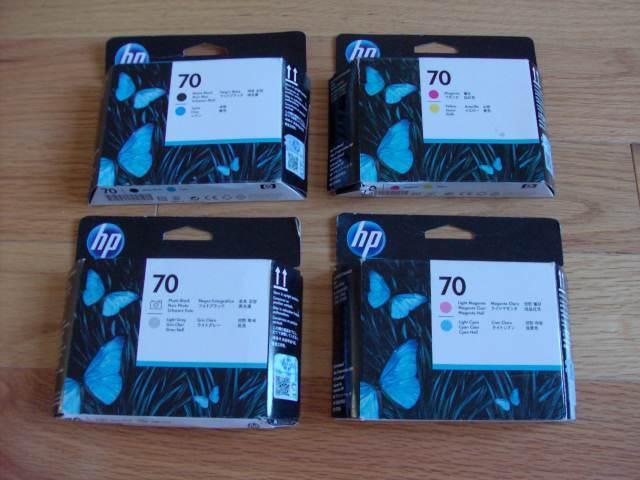 2018/7 GENUINE SET 4 HP 70 PRINTHEAD DESIGNJET Z2100 C9404A C9405A C9406A C9407A