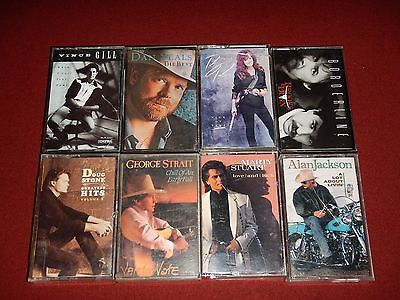 Cassette Tapes Country  ( Lot of 8 ) Tested and working