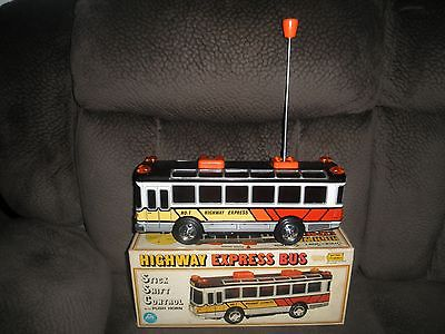 Alps Japan BIG SIZE HIGHWAY EXPRESS PASSENGER BUS Tin Toy