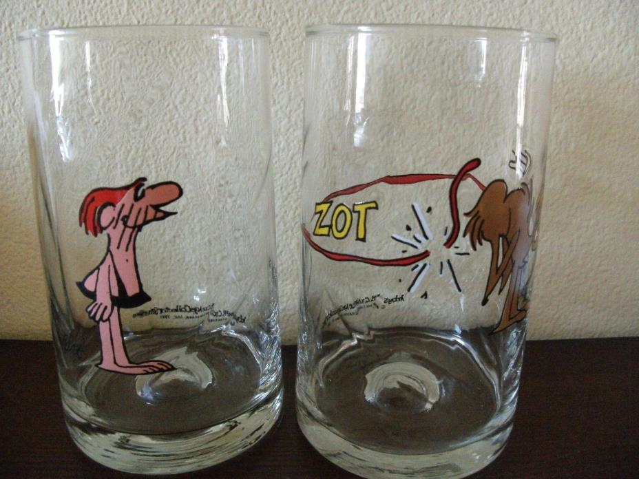 BC Ice Age Glasses Arby's Collector Series Set Of 2, 1981 Vintage