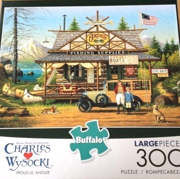 Buffalo Games Charles Wysocki: Proud Lil Angler 300 Piece Jigsaw Puzzle