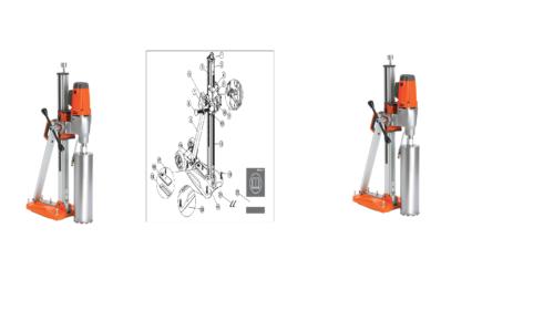 Water Well Drilling Rig Drill Equipment Husqvarna Core Drill, DMS 240
