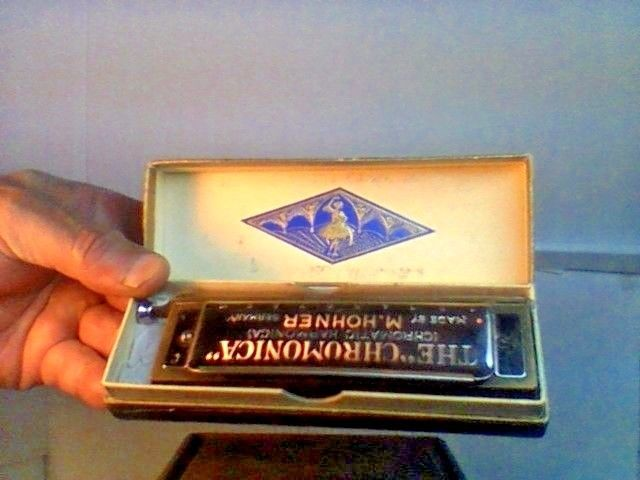 VINTAGE CHROMONICA HARMONICA M. HOHNER...EX COND IN ORIG. BOX GERMANY