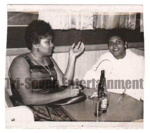 Vintage African American Photo Women Talking Posing at Table Black Americana