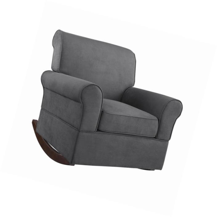 Nursery Rocking Chair Comfort Seat Cushion Baby Soft Bed Room Microfiber Plush