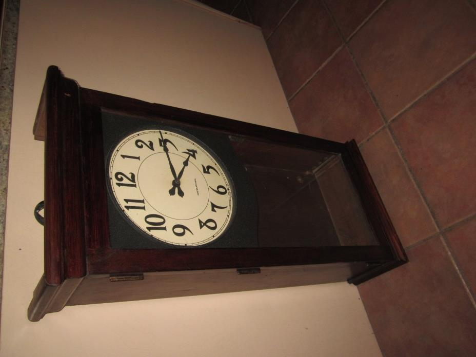 big antique International wall clock for restoration
