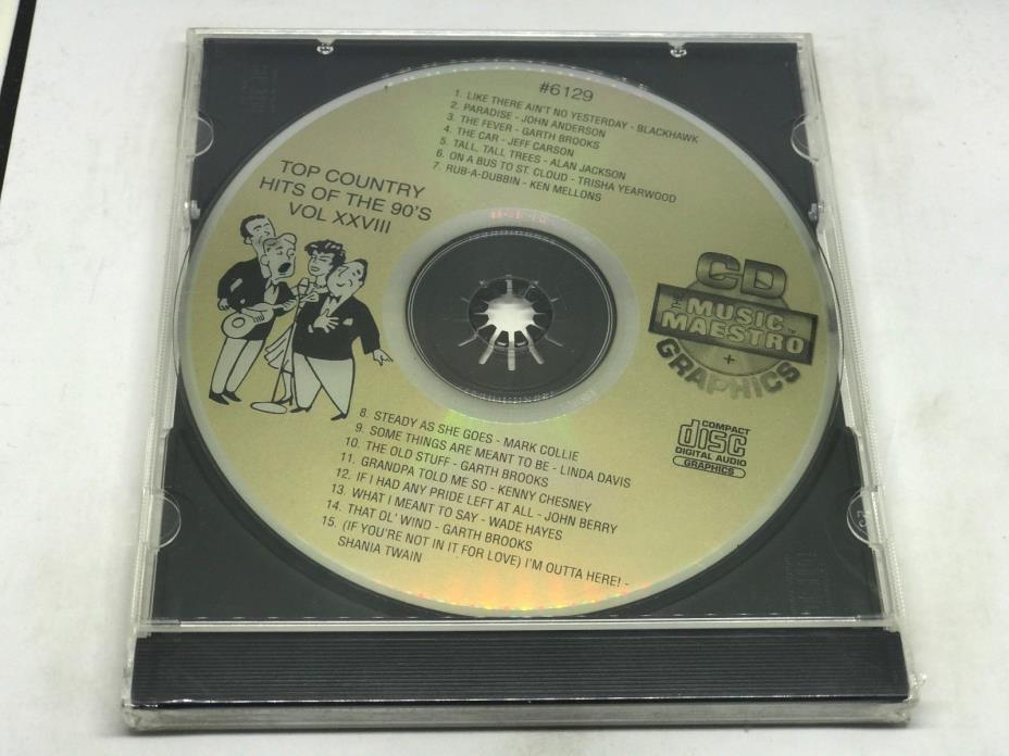 THE MUSIC MAESTRO KARAOKE COUNTRY HITS OF THE 90's VOL XXVIIICD+G 6129