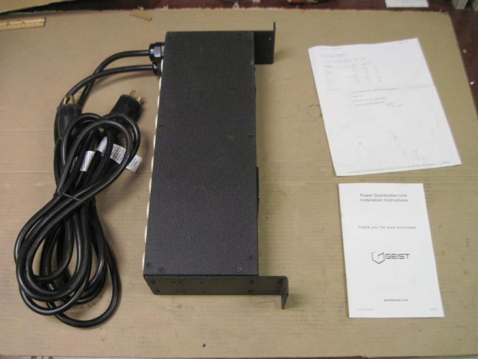 Geist 2JRC200-102D20DTL5 Power Distribution Unit 2 x 16a 100-120 VAC 12178 PDU