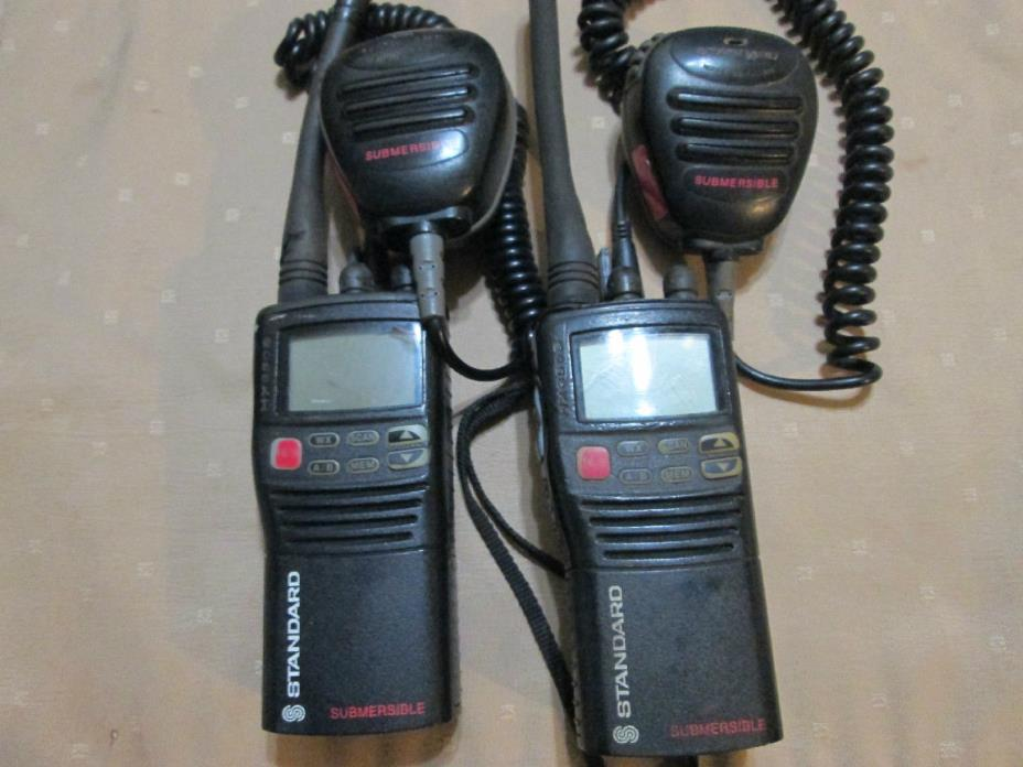 2 Horizon Standard HX350S Marine Radios CMP350 Mic untested no batteries