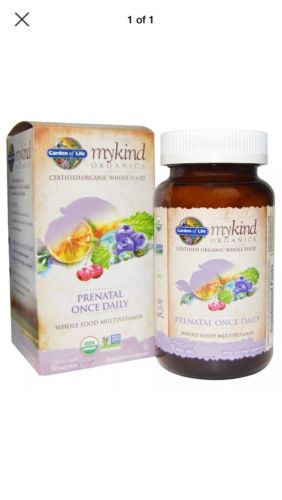 Garden of Life mykind Organics Prenatal Once Daily 90 Vegan Tablets - FAST SHIP