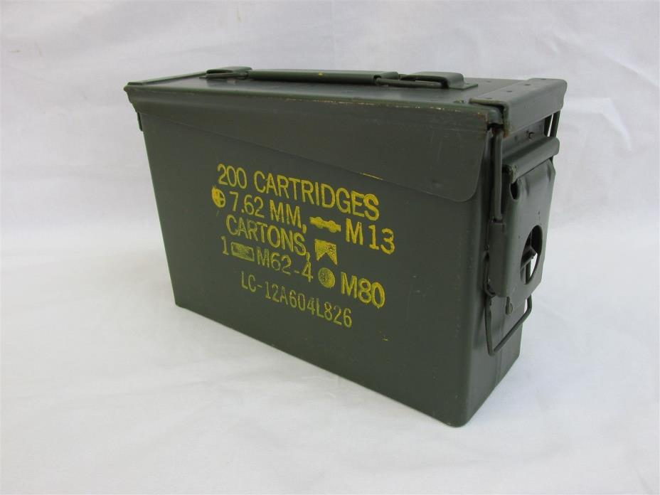 30 Cal Ammo Can Box  Army Military M19A1 Metal Storage 7.62 MM