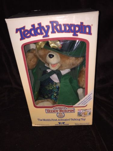 Vintage Teddy Ruxpin Original 1985 w/ Box & Outfit W/hat TESTED WORKS Very Nice