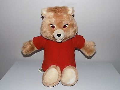 Vintage Teddy Ruxpin Plush Doll Bear For Parts or Repair 1985 Battery Cover