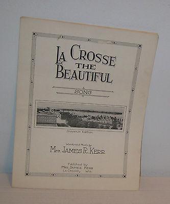 LaCrosse The Beautiful Vintage Song Music Words Souvenir Ed Bertha Kerr Good+