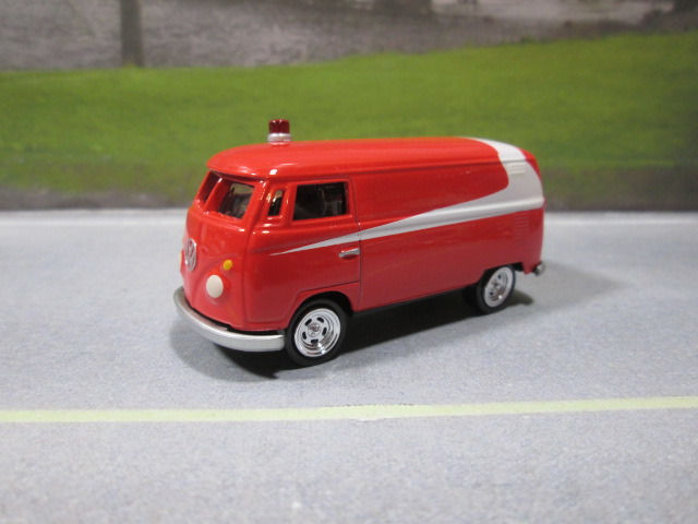 1965  '65 VW PANEL VAN - RED WHITE  S SCALE NEW NEAR MINT