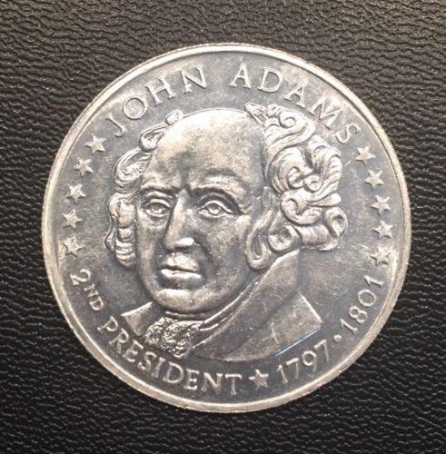 Vintage 1970s President Collector Coin Cereal Premium John Adams