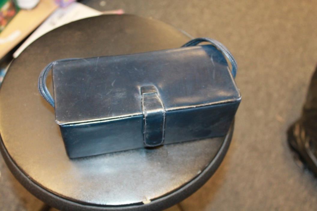 Vintage Rectangular Black Theodor Clutch/Handbag with mirror on the inside