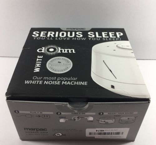 Marpac Dohm DS Dual Speed Sound Conditioner White NEW OPEN BOX