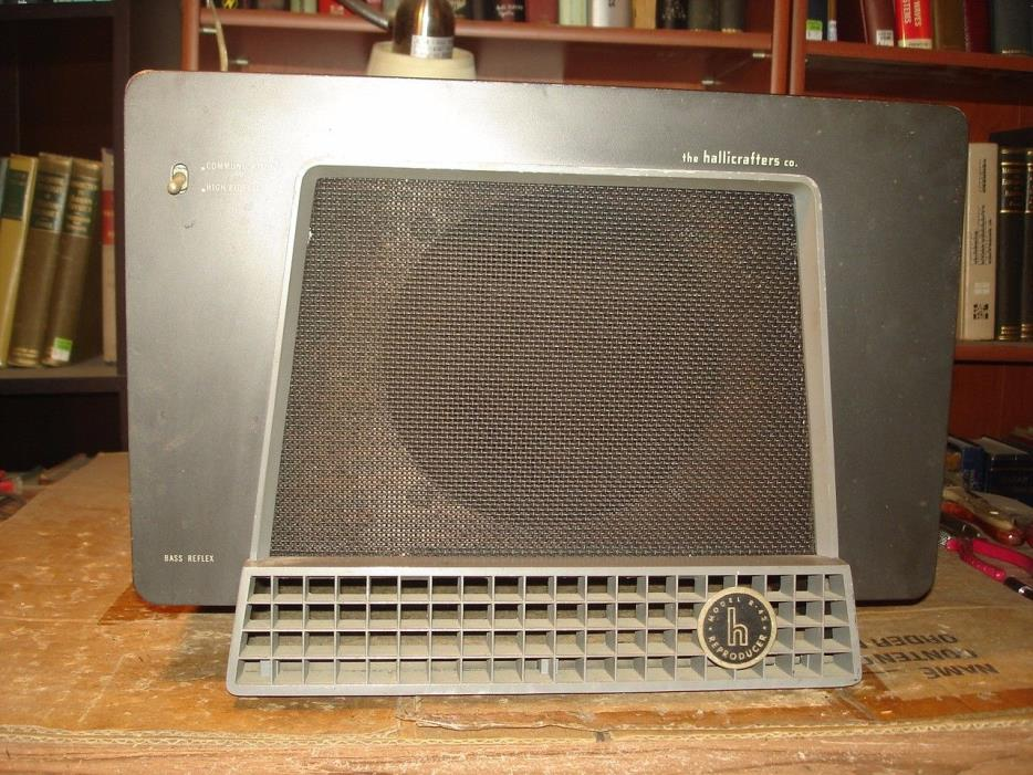 Hallicrafters R-42 Bass Reflex speaker with original Jensen Alnico driver 500ohm