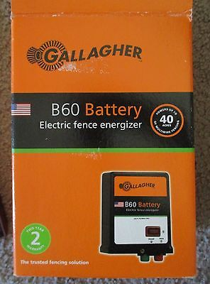 Gallagher B60 Electric Fence Energizer Unit In Box