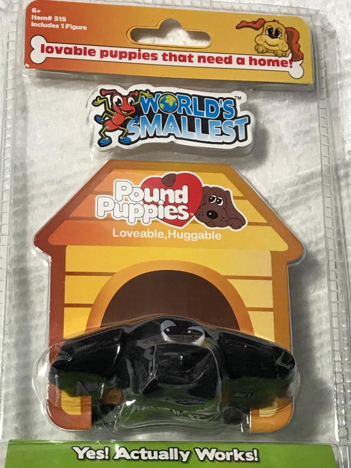 World's Smallest POUND PUPPIES Toy Dog Puppy BLACK LAB Doll Mini Plush Hasbro