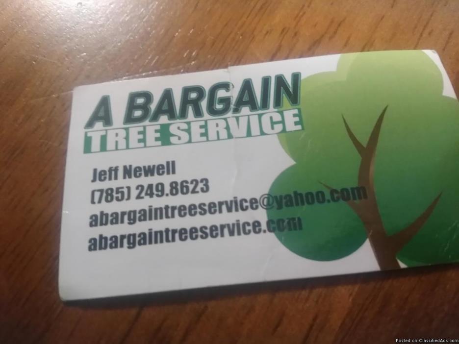 A bargain tree service