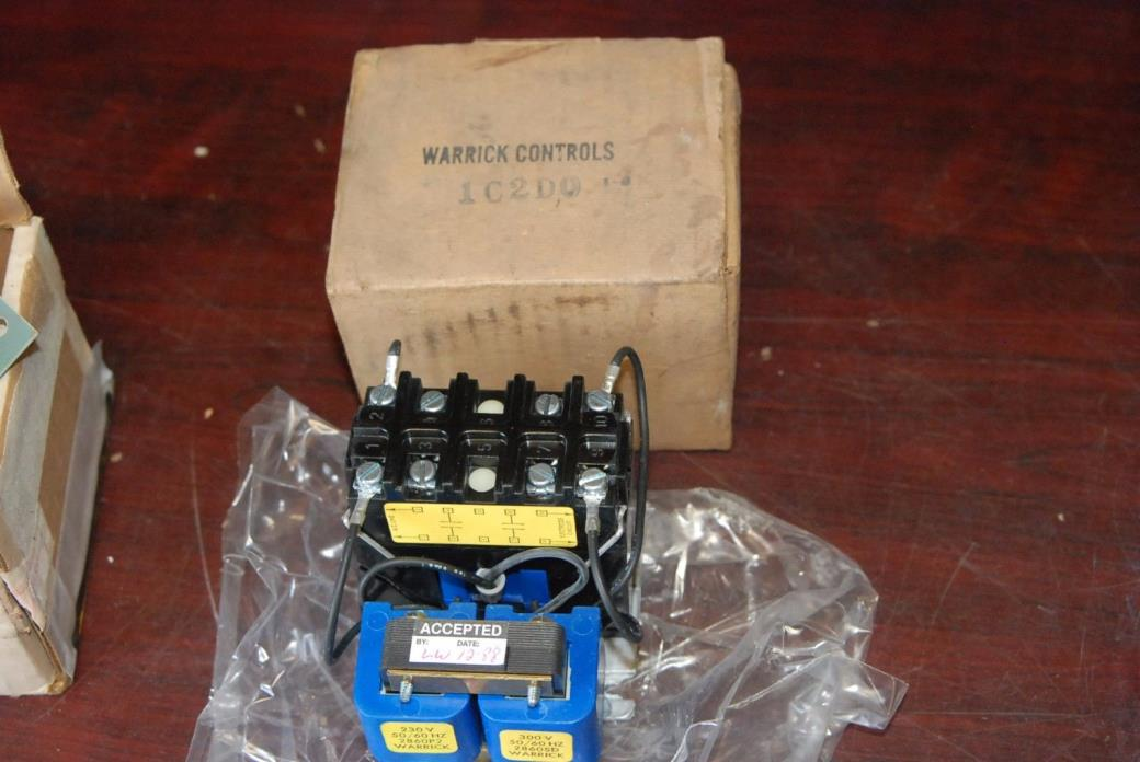 Warrick Controls 1C2D0, 1C2DO, 230/300V Contactor with Transformer   New in Box