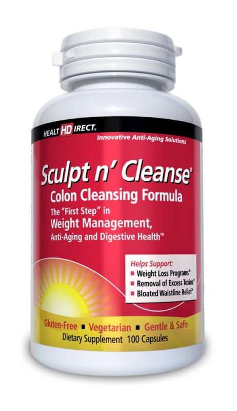 Sculpt n' Cleanse Colon Cleansing Supplement (450 mg, 100 Veggie Capsules) from