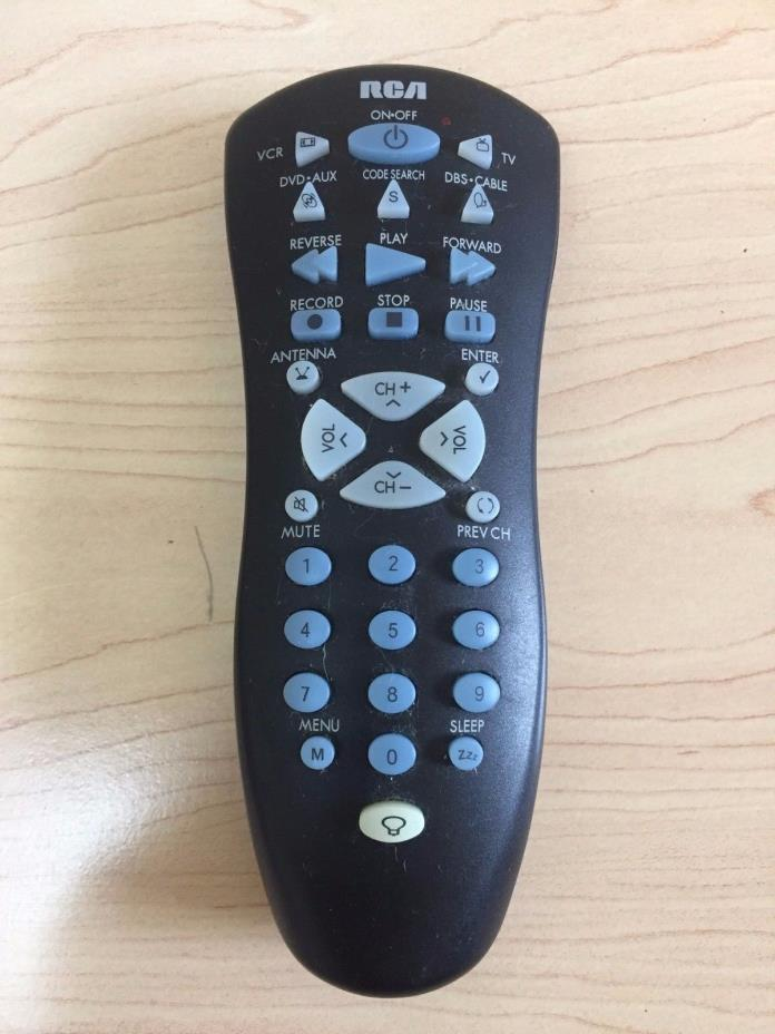 RCA Remote Control RCU410X Universal VCR DVD TV 4 Devices TESTED