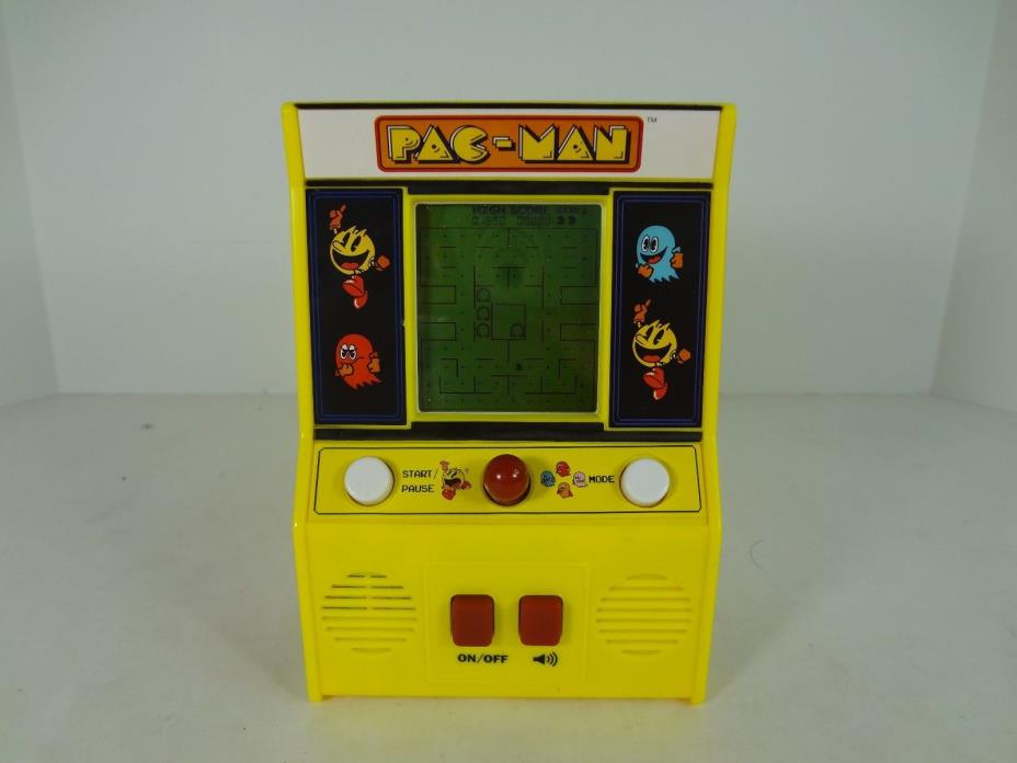 Mini Pac Man Arcade Game Pacman Machine Handheld Vintage Namco Bandai WORKS!
