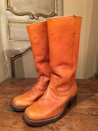 VTG Herman Survivor Tall Campus Engineering  Riding Boots Mens Size 7.5 D 60's