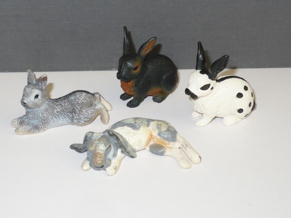 SCHLEICH / SAFARI LTD. Rabbits ~ Set of 4