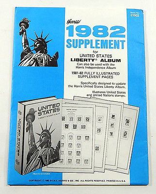 Harris United States Liberty Supplement #05102 1982 Stamp Album Pages