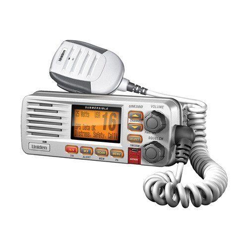 Vhf Mount Fixed Marine Radio Standard White Class D Gps Transceiver Uniden New