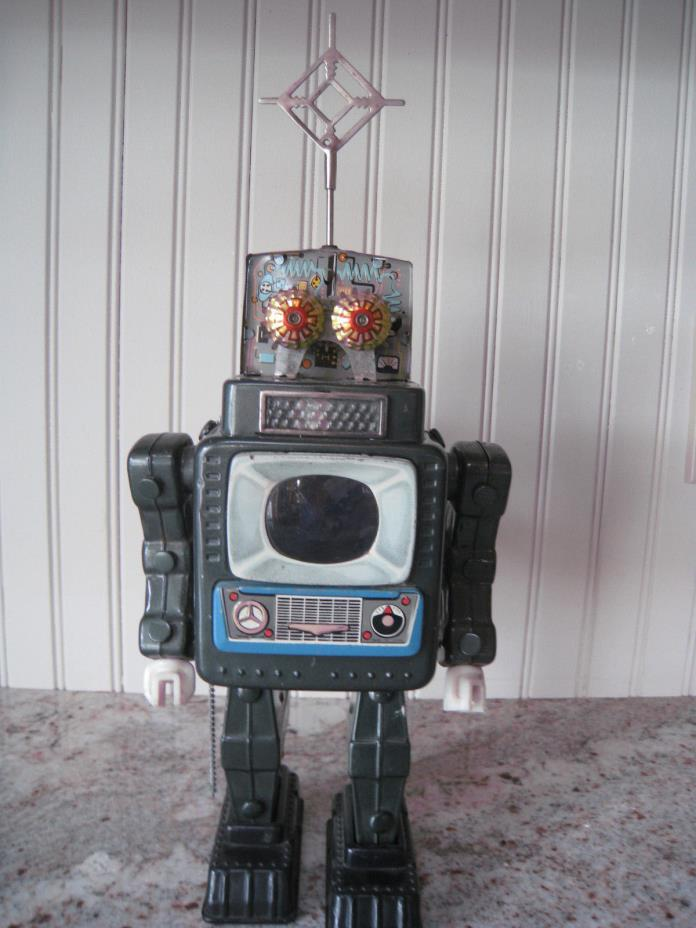 Vintage 1960's ALPS Television Robot - Fantastic Condition - Works - Japan 11