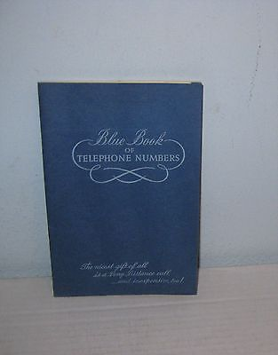 Blue Book of Telephone Numbers Wisconsin Telephone Co PB Vintage
