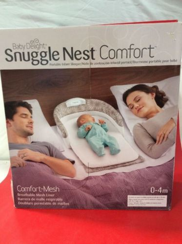 Baby Delight Snuggle Nest Comfort Infant Sleeper - Taupe Leaves